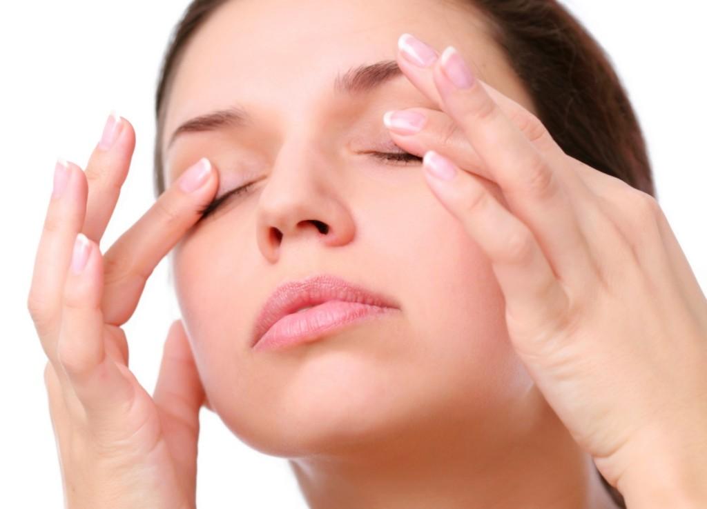 Massage of eyes.